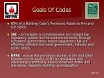 goals of codes