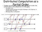 distributed computation as a partial order36