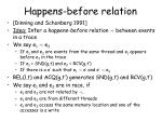 happens before relation