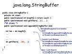 java lang stringbuffer100