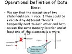 operational definition of data race
