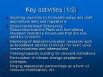 key activities 1 2
