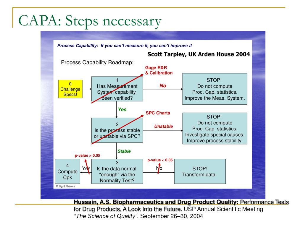 CAPA: Steps necessary