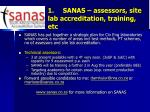 1 sanas assessors site lab accreditation training etc