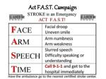 act f a s t campaign