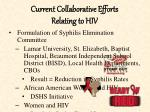 current collaborative efforts relating to hiv
