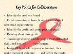 key points for collaboration