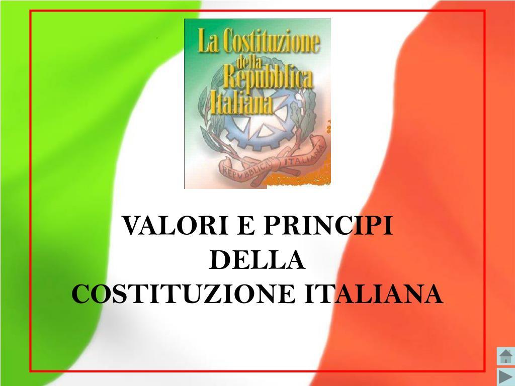 valori e principi della costituzione italiana l.