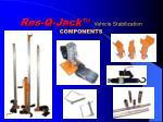 res q jack vehicle stabilization components
