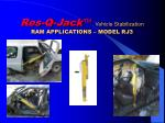 res q jack vehicle stabilization ram applications model rj3