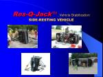 res q jack vehicle stabilization side resting vehicle