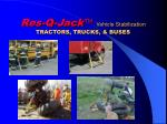 res q jack vehicle stabilization tractors trucks buses