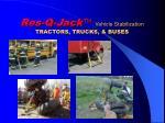 res q jack vehicle stabilization tractors trucks buses