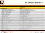 financials bundle 1