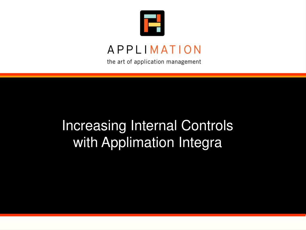increasing internal controls with applimation integra l.