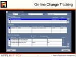 on line change tracking