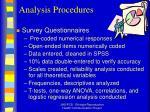analysis procedures12