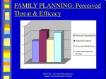 family planning perceived threat efficacy
