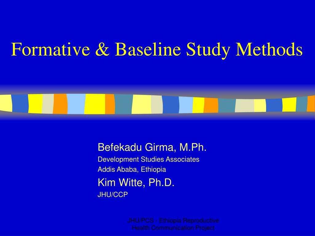 formative baseline study methods l.