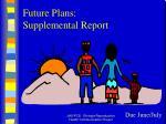 future plans supplemental report