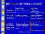 hiv aids prevention messages