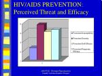 hiv aids prevention perceived threat and efficacy