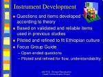 instrument development