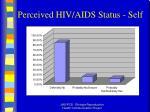 perceived hiv aids status self