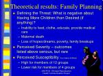 theoretical results family planning