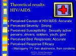 theoretical results hiv aids