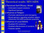 theoretical results hiv aids20