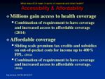 what does aca mean in terms of maternal and infant health accessibility affordability