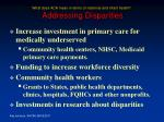 what does aca mean in terms of maternal and infant health addressing disparities