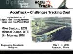 accutrack challenges tracking coal