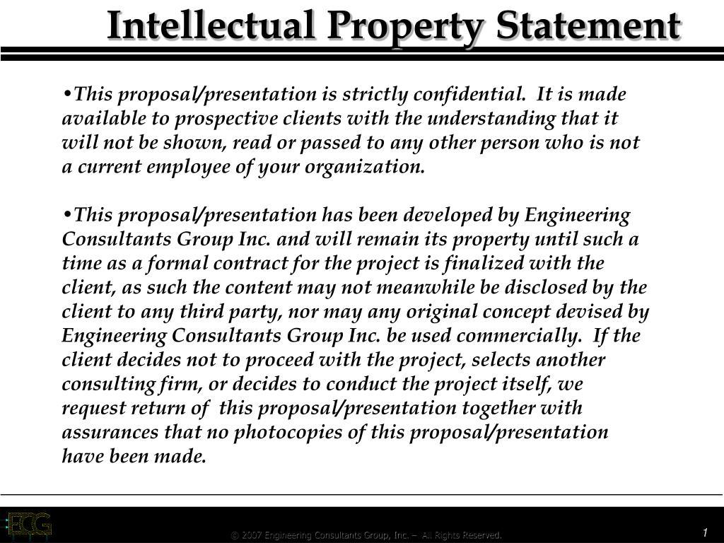 intellectual property statement l.