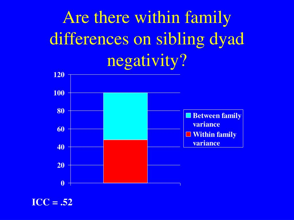 Are there within family differences on sibling dyad negativity?