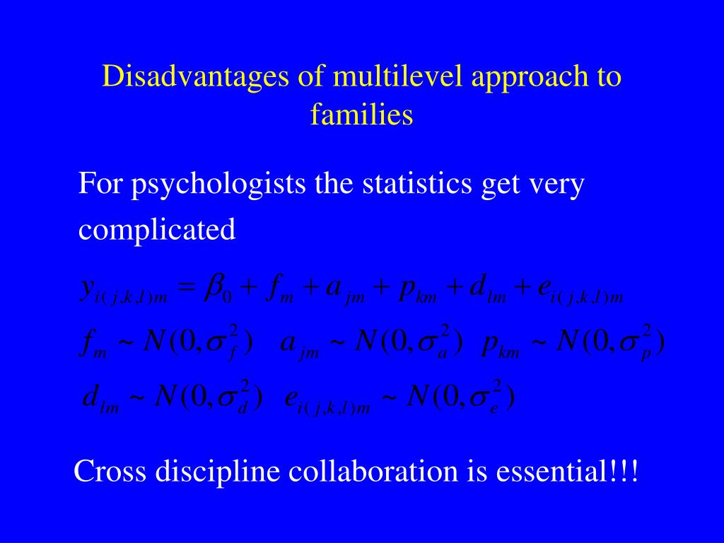 Disadvantages of multilevel approach to families