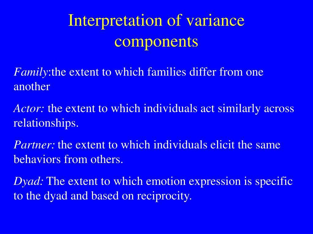 Interpretation of variance components