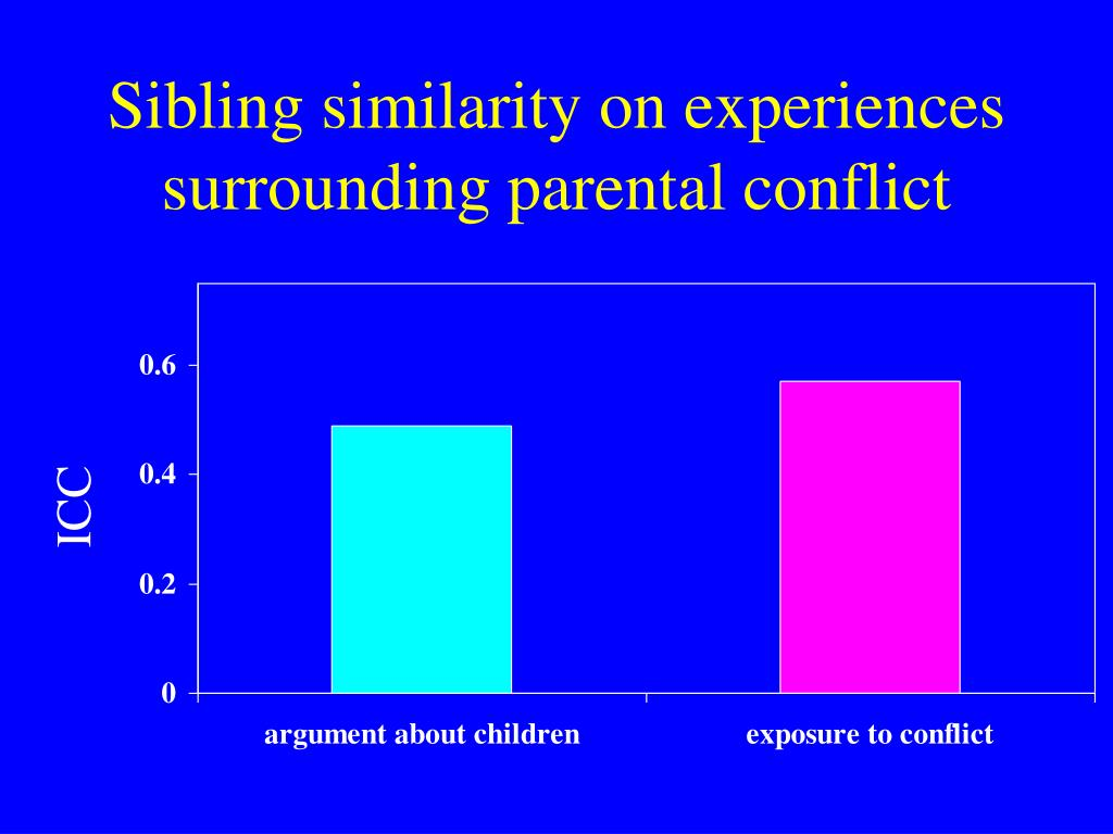 Sibling similarity on experiences surrounding parental conflict
