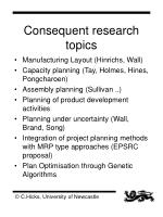 consequent research topics