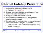 internal latchup prevention
