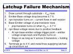 latchup failure mechanism