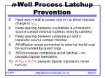 n well process latchup prevention30