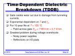 time dependent dielectric breakdown tddb