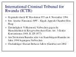international criminal tribunal for rwanda ictr