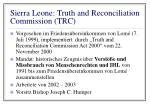 sierra leone truth and reconciliation commission trc