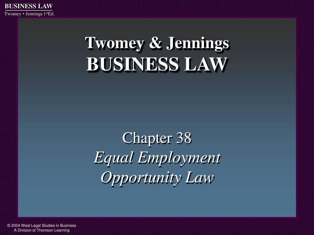 twomey jennings business law l.