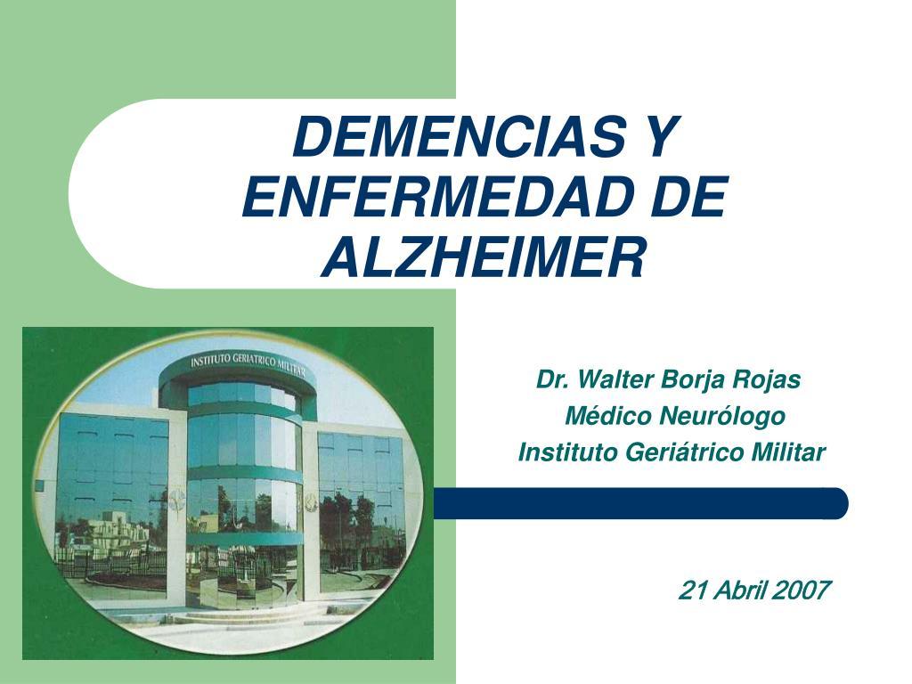 demencias y enfermedad de alzheimer l.