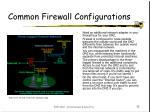 common firewall configurations15