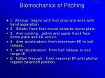 biomechanics of pitching